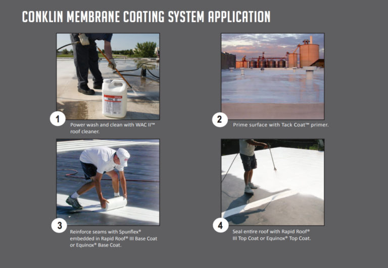 Membrane roof restoration commercial roofing system.
