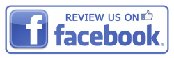 Logo of review us on Facebook.