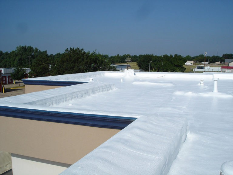 Spray foam roofing completed.