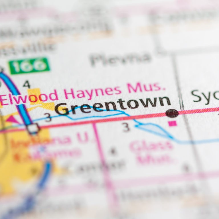 Greentown IN on a map.