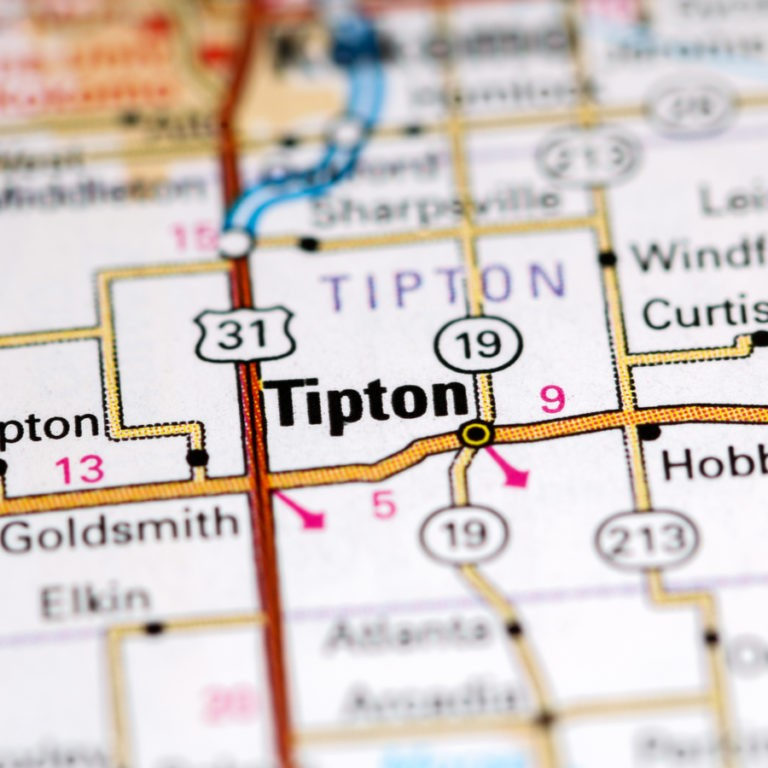 Map of Tipton IN on Tipton IN page.