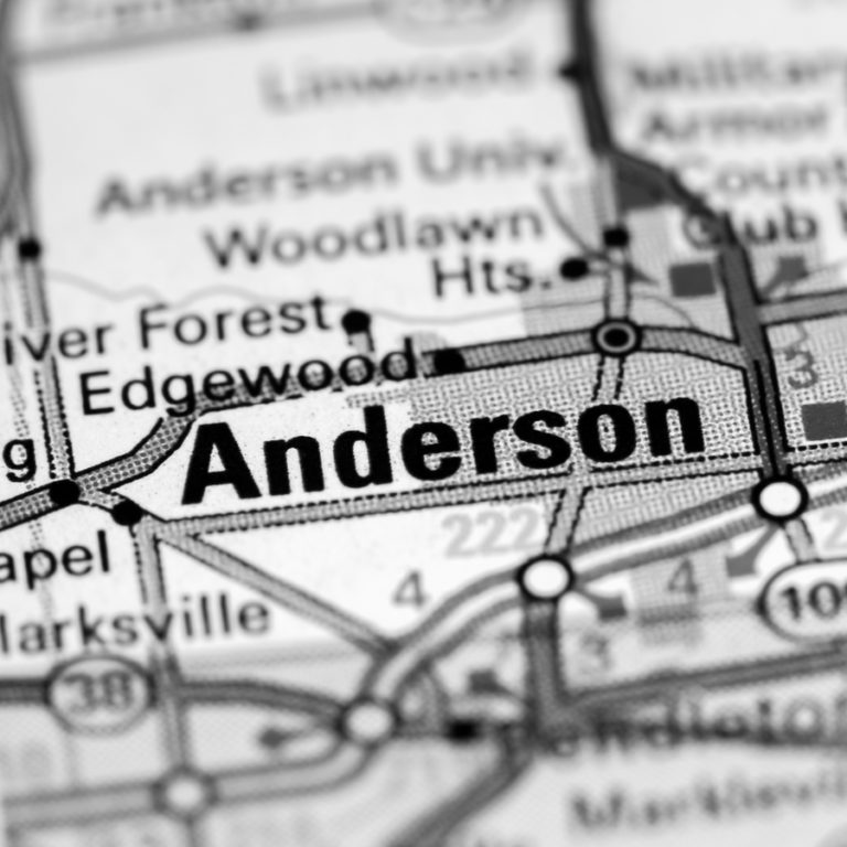 Map[ of Anderson IN on Anderson IN page.