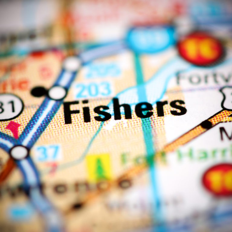 Map of Fishers IN on Fishers IN page.