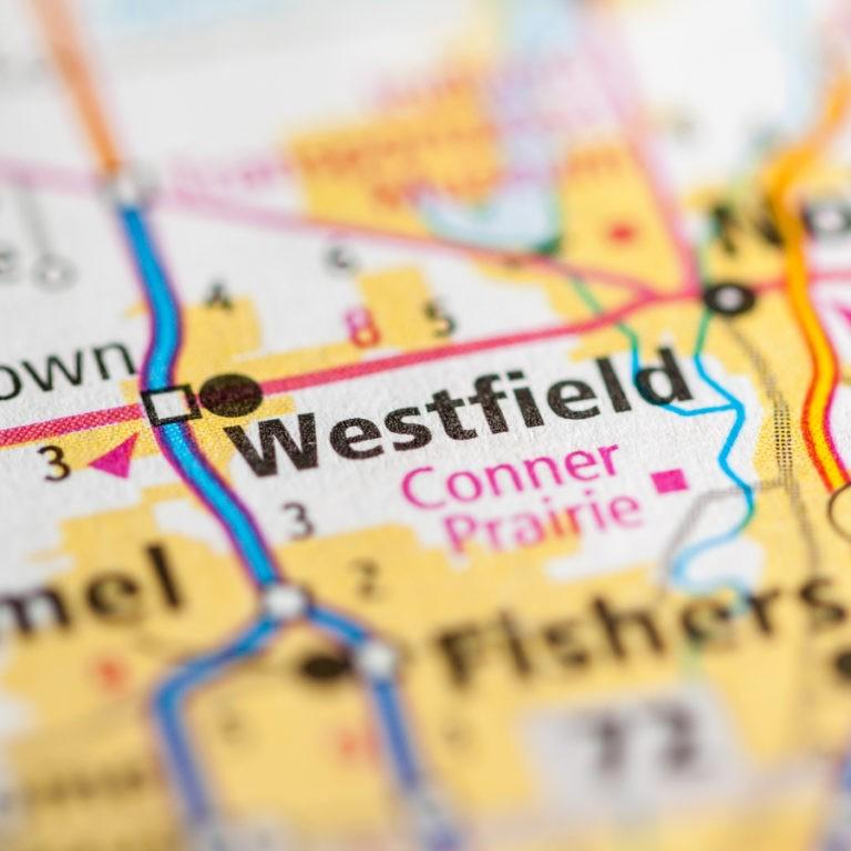 Map of Westfield IN on Westfield IN page.