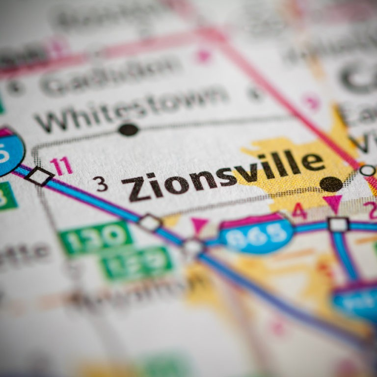 Map of Zionsville IN on Zionsville IN page.