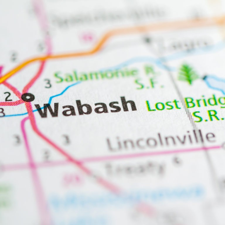 Map of Wabash IN on Wabash IN page.