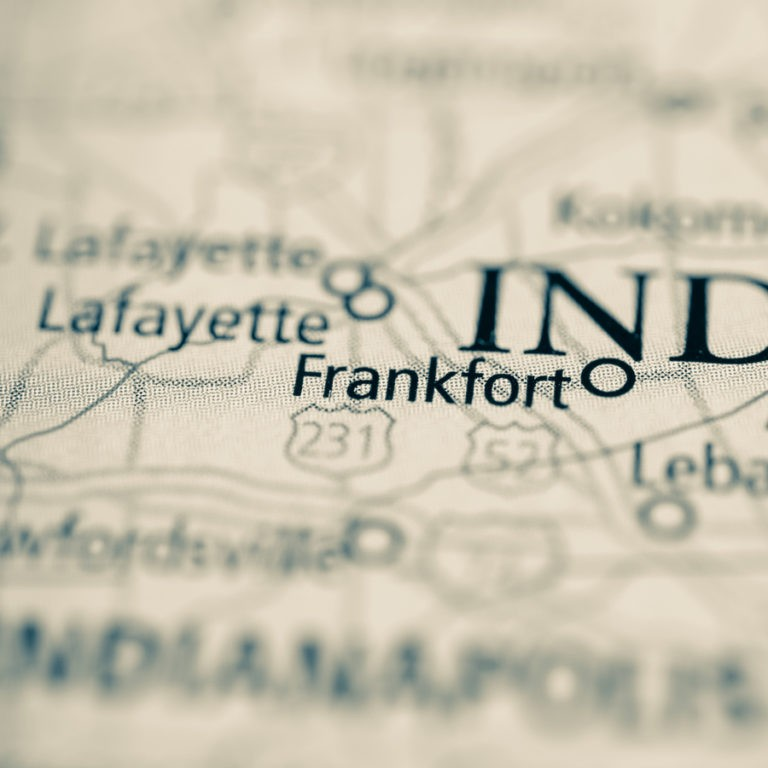 Map of Frankfort IN on Frankfort IN page.