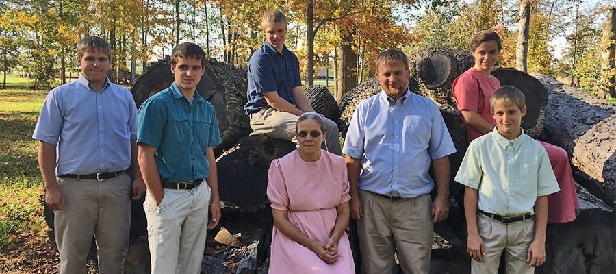 Family photo of the Weaver Family above the story about them and how they started their business.